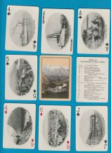 Antique playing cards Souvenir Advertising Canadian Pacific Railway. 1912